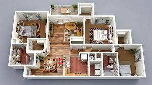 bedroom floorplan 20 designs ideas for 3d apartment or one storey three bedroom