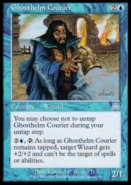 ghosthelm courier creature wizard water droplet blue