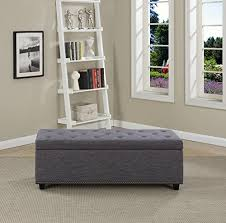 Large Storage Ottoman Bench Simpli Home Hamilton Rectangular Storage Ottoman Bench Large