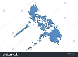 Philippines On World Map by 3d Illustration Map Philippines On Plain Stock Illustration