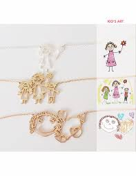 personalized children s jewelry your childs necklace kids drawing jewelry custom