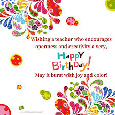 happy birthday teacher wishes for professors instructors