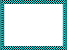 aqua black funky checker rectangular powerpoint border 3d borders