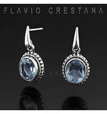 brinco zirconia brinco zirconia azul prata 925 india 21910376