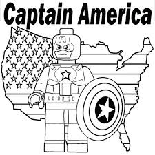 captain coloring lego america civil war pages free print