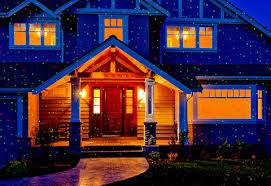 ideas projection lights on house landscape