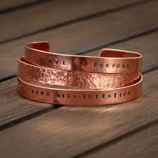 copper bracelet images Hammered copper bracelet set of 3 maggie claire designs jpg