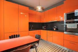 cuisine orange et noir cuisine orange et noir
