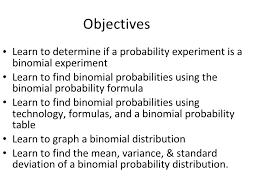 Binomial Probabilities Table Probability 4 2