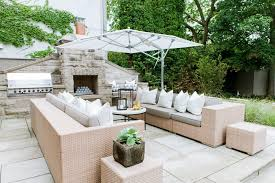 toronto modern patio furniture traditional with stone fireplace