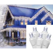 cool white icicle lights set of 70 cool white led wide angle icicle christmas lights white