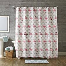 Transparent Shower Curtain Better Homes U0026 Gardens Flamingo Shower Curtain Walmart Com