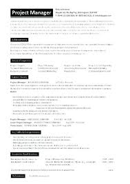 sample resume construction project manager project manager resume