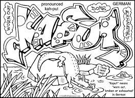 graffiti color pages kaput graffiti yiddish pinterest graffiti coloring books