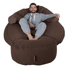 giant bean bag sofa giant bean bag sofa mega mammoth lounge pug beanbag wool brown