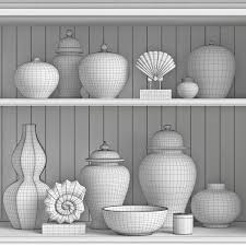 William Sonoma Home by Williams Sonoma Home Decor Set 2 3d Model Cgtrader