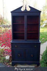 Shabby Chic Secretary Desk by Sold Antique Shabby Chic Midnight Navy Blue China Cabinet