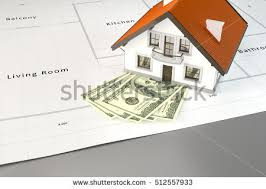 planning to build a house 3d rendering planning build house money stock illustration