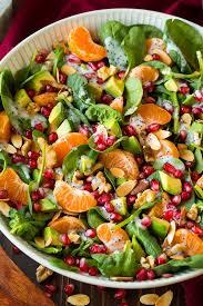 mandarine pomogranate spinach salad with poppy seed dressing