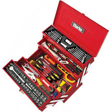 tool box clarke cht641 199 piece diy tool kit with cantilever tool box