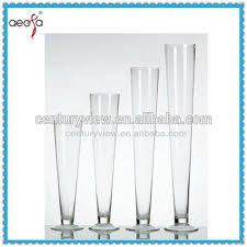 Large Round Glass Vase Round Tall Trumpet Shaped Large Clear Decor For Wedding Glass Vase