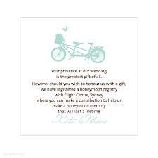 wedding registry card wording alannah wedding invitations stationery shop online