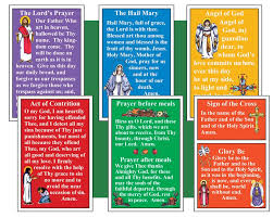 basic catholic prayer poster cards prayer catholic