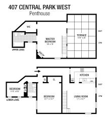 407 central park west the deanna kory team floorplan