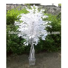 ft191 new style white leaf maple tree garden decoration plastic
