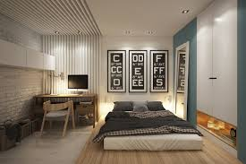 Urban Modern Design by Interior Modern Small Bedroom Design With Frameless Bed