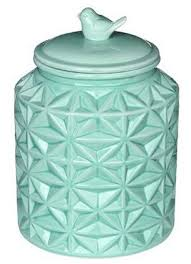 turquoise vintage ceramic kitchen flour canister cookie jar