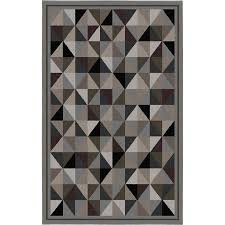 Modern Area Rugs Canada Korhani Home Mansfield Rectangular Gray Geometric Area Rug