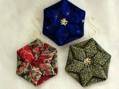 Quilted Christmas Ornaments To Make - scandinavian fabric stars handicraft embroidery and fabrics