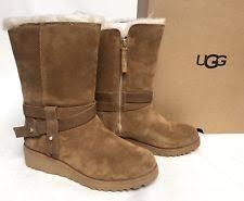 nib ugg australia emalie wedge waterproof ankle boot black zip ugg australia s wedge us size 9 ebay
