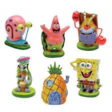 nickelodeon s spongebob squarepants assorted mini resin aquarium