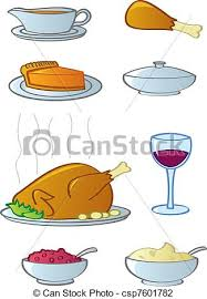 vector illustration of dinner food items common food and