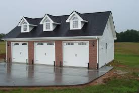 3 car garage with gable dormers