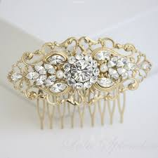 gold bridal comb deco wedding hair accessories vintage