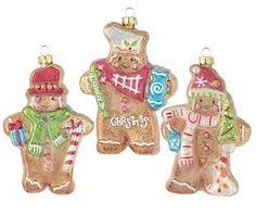 t1386 gingerbread holding onto rolling pin ornament 2 assorted