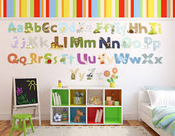 Alphabet Wall Decals For Nursery by Nursery Alphabet Wall Art Shenra Com