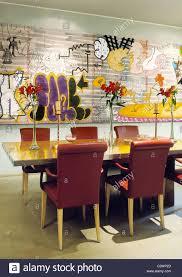 graffiti art dining room stock photo royalty free image 36216165