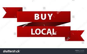 buy ribbon buy local tag ribbon banner stock illustration 311651006