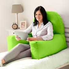 backrest pillow for bed lime cotton chloe bed reading pillow bean bag cushion arm backrest