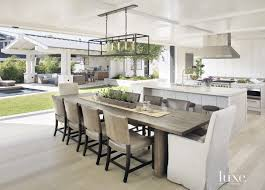 contemporary white kitchen with barstools luxesource luxe