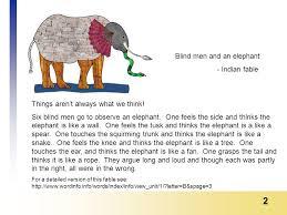Blind Man And Elephant 1 Analyzing Quantitative Data 2 Things Aren U0027t Always What We