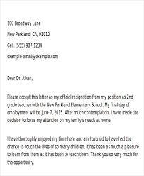 teaching resignation letter resignation letter format teaching