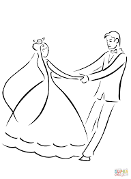 wedding couple coloring page free printable coloring pages