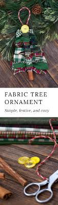 how to make scrap fabric tree ornaments