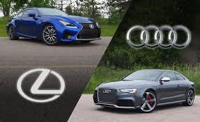 lexus vs audi 2015 audi rs 5 vs 2015 lexus rc f autoguide com