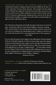 religious freedom and the constitution christopher l eisgruber
